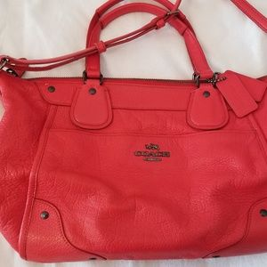 COACH Red Satchel Purse
